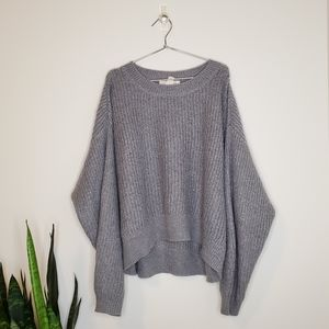H&M LOGG Mohair Blend Slouchy Knit Sweater